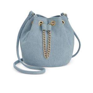 mini bucket cross body purse